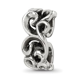 Reflection Beads Sterling Silver Scroll Connector Bead