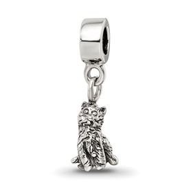 Reflection Beads Sterling Silver Kids Cat Dangle Bead