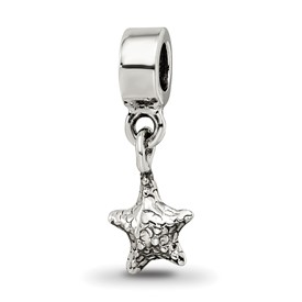 Reflection Beads Sterling Silver Kids Starfish Dangle Bead
