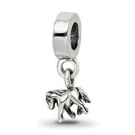 Reflection Beads Sterling Silver Kids Pony Dangle Bead
