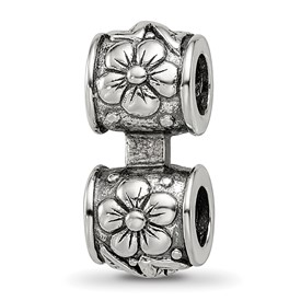Reflection Beads Sterling Silver Floral Connector Bead
