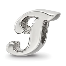 Reflection Beads Sterling Silver Letter T Script Bead