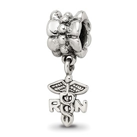 Reflection Beads Sterling Silver Nurse Symbol Dangle Bead