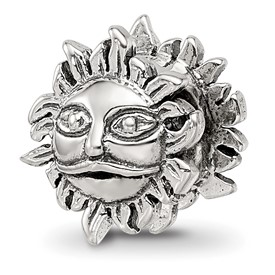 Reflection Beads Sterling Silver Sun Bead