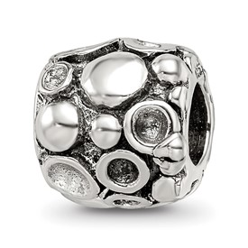 Reflection Beads Sterling Silver Dots Bali Bead