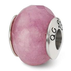 Reflection Beads Sterling Silver Lavender Quartz Stone Bead