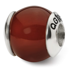 Reflection Beads Sterling Silver Carnelian Stone Bead