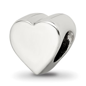 Reflection Beads Sterling Silver Heart Shape Bead