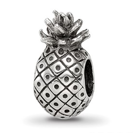 Reflection Beads Sterling Silver Pineapple Bead