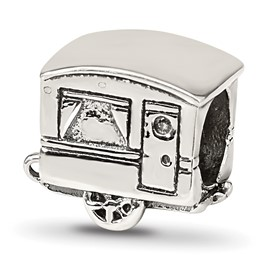 Reflection Beads Sterling Silver Camper Trailer Bead