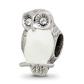 Reflection Beads Sterling Silver Enameled Wise Owl Bead