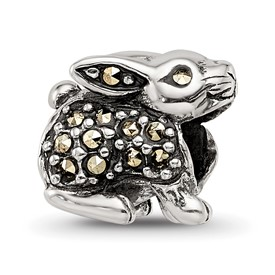 Reflection Beads Sterling Silver Marcasite Rabbit Bead