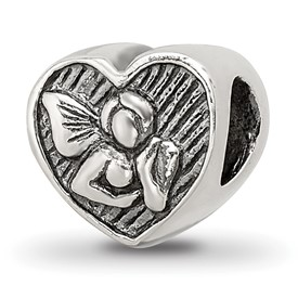 Reflection Beads Sterling Silver Angel Heart Bead