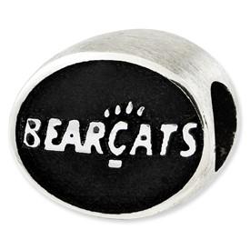 University of Cincinnati Sterling Silver Collegiate Bead