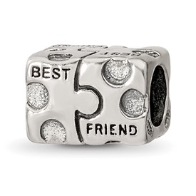 Reflection Beads Sterling Silver Best Friend Bead