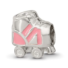 Reflection Beads Sterling Silver Kids Rollerskate Bead