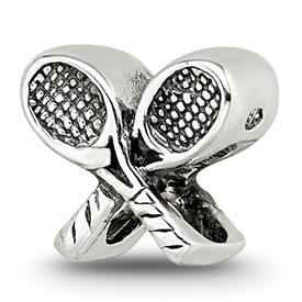 Reflection Beads Sterling Silver Kids Tennis Racquets Bead