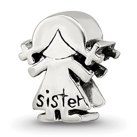 Reflection Beads Sterling Silver Little Sister Girl Bead