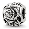 Reflection Beads Sterling Silver Rose Bali Bead