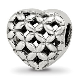 Reflection Beads Sterling Silver Heart Bead