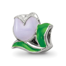 Reflection Beads Sterling Silver Kids Enameled Tulip Bead