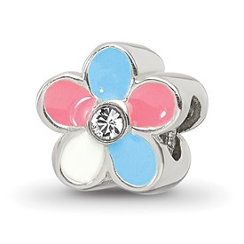 Reflection Beads Sterling Silver Kids Enameled Flower Bead