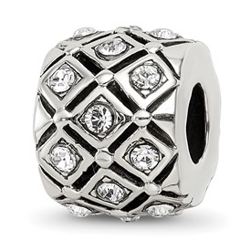 Reflection Beads Sterling Silver April Swarovski Elements Bead