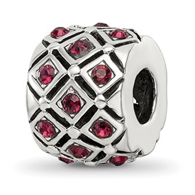 Reflection Beads Sterling Silver January Swarovski Elements Bead