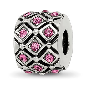 Reflection Beads Sterling Silver October Swarovski Elements Bead
