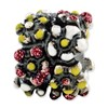 Reflection Beads Sterling Silver Multicolored Enameled Flowers Bead