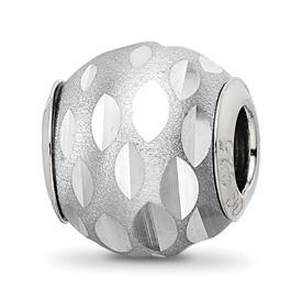 Reflection Beads Sterling Silver Velvet Diamond Cut Bead