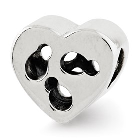 Reflection Beads Sterling Silver Kids Cut-out Heart Bead