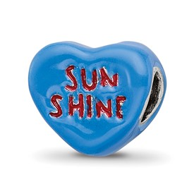 Reflection Beads Sterling Silver Kids Sun Shine Enameled Heart Bead
