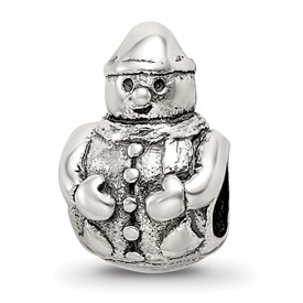 Reflection Beads Sterling Silver Snowman Bead