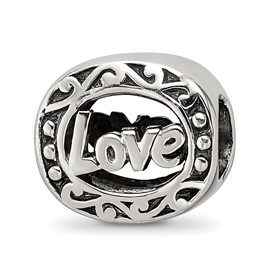 Reflection Beads Sterling Silver Love Bead