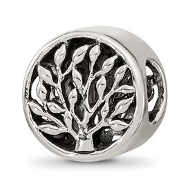 Reflection Beads Sterling Silver Tree Bead