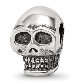 Reflection Beads Sterling Silver Skull Bead