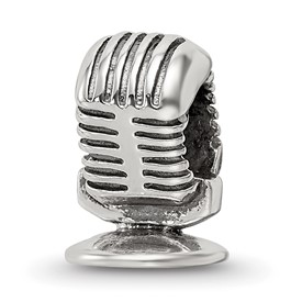 Reflection Beads Sterling Silver Microphone Bead