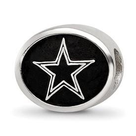 Sterling Silver LogoArt Enameled Dallas Cowboys NFL Bead