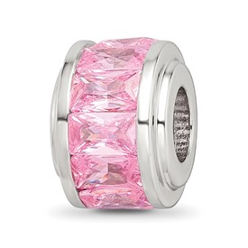Sterling Silver Reflections Pink CZ Bead