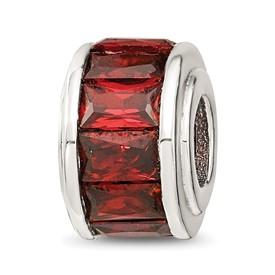 Dark Red Cubic Zirconia Bead