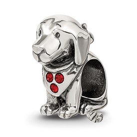 Reflection Beads Sterling Silver Swarovski Crystal Dog Bead