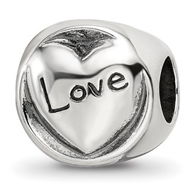Sterling Silver Reflections Faith Hope Love Trilogy Bead