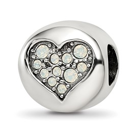 Sterling Silver Reflections Swarovski Crystal June-Clarity Bead