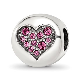Sterling Silver Reflections Swarovski Crystal Oct-Hope Bead