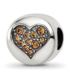 Sterling Silver Reflections Swarovski Crystal Nov-Balance Bead