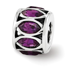 Sterling Silver Reflections Swarovski Crystal Marquis Ladder Bead