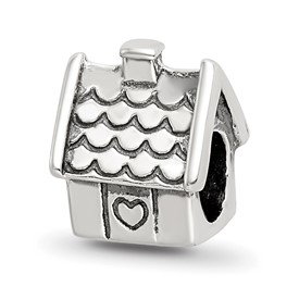 Reflection Beads Sterling Silver House Bead