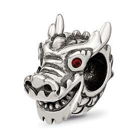 Reflection Beads Sterling Silver Swarovski Chinese New Year Dragon Bead
