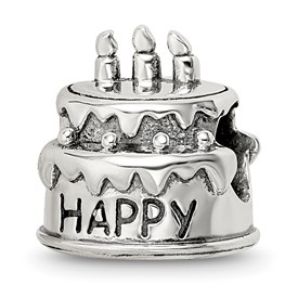 Sterling Silver Reflections Birthday Cake Bead